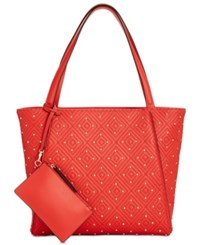 Inc International Concepts I.N.C. Quiin Quilted Studded Large Tote Ginger Spice