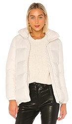Add Short Down Cape In White. Ivory