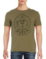 Lucky Brand Moscow Mule Tee Burnt Olive