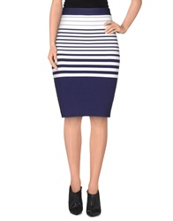 Guess By Marciano Knee Length Skirts Dark Blue