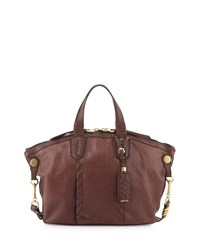 Cassie Medium Snake Embossed Tote Bag Plum Oryany