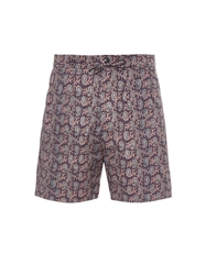 Paul Smith Paisley Print Cotton Shorts