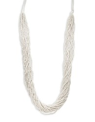 Robert Rose Beaded Statement Necklace White