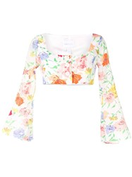 Alice Mccall Picasso Floral Blouse White