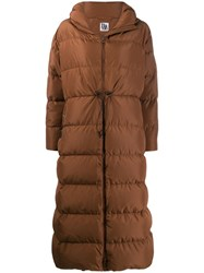 Bacon Hooded Padded Coat Brown