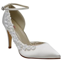 Rainbow Club Fern Flower Court Shoes Ivory