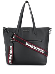 Dsquared2 Logo Plaque Tote Bag Black