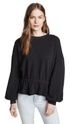 Nation Ltd. Ltd Quinn Waisted Sweatshirt Washed Black