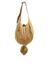 J.W.Anderson Knot Suede And Leather Hobo Bag Beige