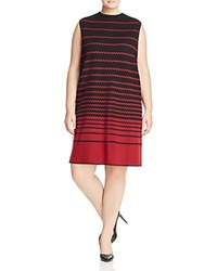 Nic And Zoe Plus Fall Fever Honeycomb Stripe Shift Dress Multi