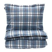 Gant Flannel Check Duvet Cover Salty Sea Blue