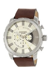 Diesel Men's Stronghold Leather Watch Brown