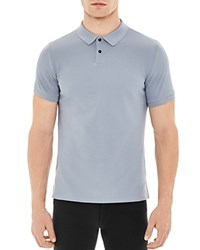 Sandro Knit Classic Fit Polo Steel Blue