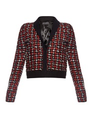 Haider Ackermann Tweed Wool Blend Cropped Jacket