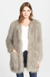 Smythe 'Mongolian' Faux Fur Jacket Dove