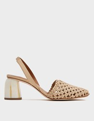 Loq Nina Woven Slingback Biscuit