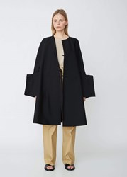 Jil Sander Grayson Structured Cuff Wool Coat Black