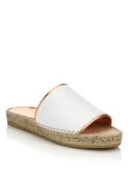 Robert Clergerie Leather Espadrille Slide Mules