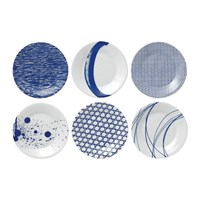 Royal Doulton Pacific Side Plates 16Cm Set Of 6