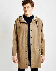 Rains Long Jacket Soil Grey