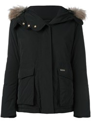 Woolrich Short Military Hooded Jacket Black