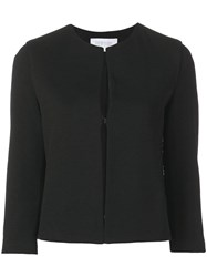 Harris Wharf London Plain Fitted Jacket Black