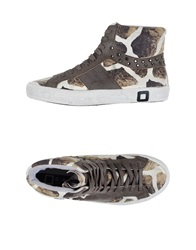 D.A.T.E. High Tops And Trainers Beige