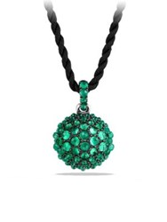 David Yurman Osetra Pendant Necklace With Cabochon Green Onyx