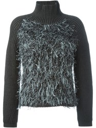 Armani Jeans Panelled Ribbed Sweater