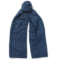 J.Crew Polka Dot Cotton Voile Scarf Blue