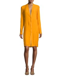 Narciso Rodriguez V Neck Boyfriend Cardigan Dress Amber