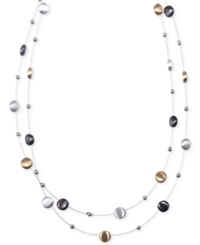 Nine West Tri Tone Layer Necklace