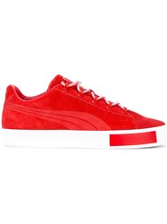 Puma Lace Up Sneakers Red