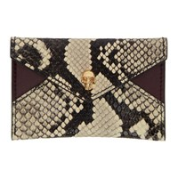 Alexander Mcqueen Black And Off White Envelope Card Holder