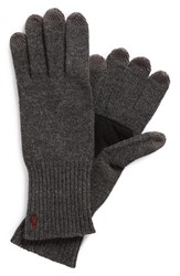 Men's Polo Ralph Lauren Merino Wool Tech Gloves Grey Windsor Heather