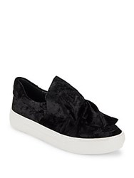 J Slides Flower Topped Round Toe Sneakers Black