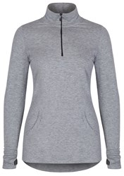 Cuddl Duds Long Sleeve 1 2 Zip Top Grey
