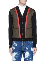 Dsquared Twill Panel Cardigan Multi Colour