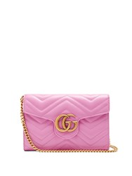 Gucci Gg Marmont Quilted Leather Cross Body Bag Pink