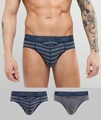 Hom 2 Pack Brief Grey