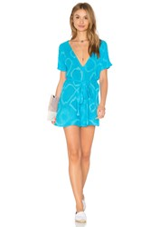 Jens Pirate Booty Ramblin' Rose Romper Blue