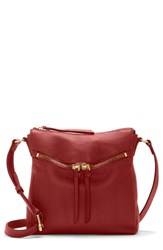 Vince Camuto Staja Leather Crossbody Bag Red Pepper Berry