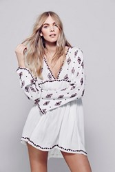 Free People Diamond Embr Top