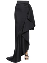 Lanvin Ruffled Wool And Silk Organza Skirt