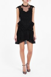 Jonathan Simkhai Women S Tiered Ruffle Contour Dress Boutique1 Black