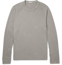 James Perse Loopback Supima Cotton Jersey Sweatshirt Gray