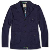 William Fox And Sons Bellows Pocket Jacket Blue