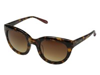 Betsey Johnson Crystal Round Cat Tortoise Fashion Sunglasses Brown