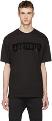 Markus Lupfer Black Sequin Survival T Shirt