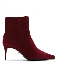 Schutz S2006700280003 Rubi Wine Leather Fur Exotic Red